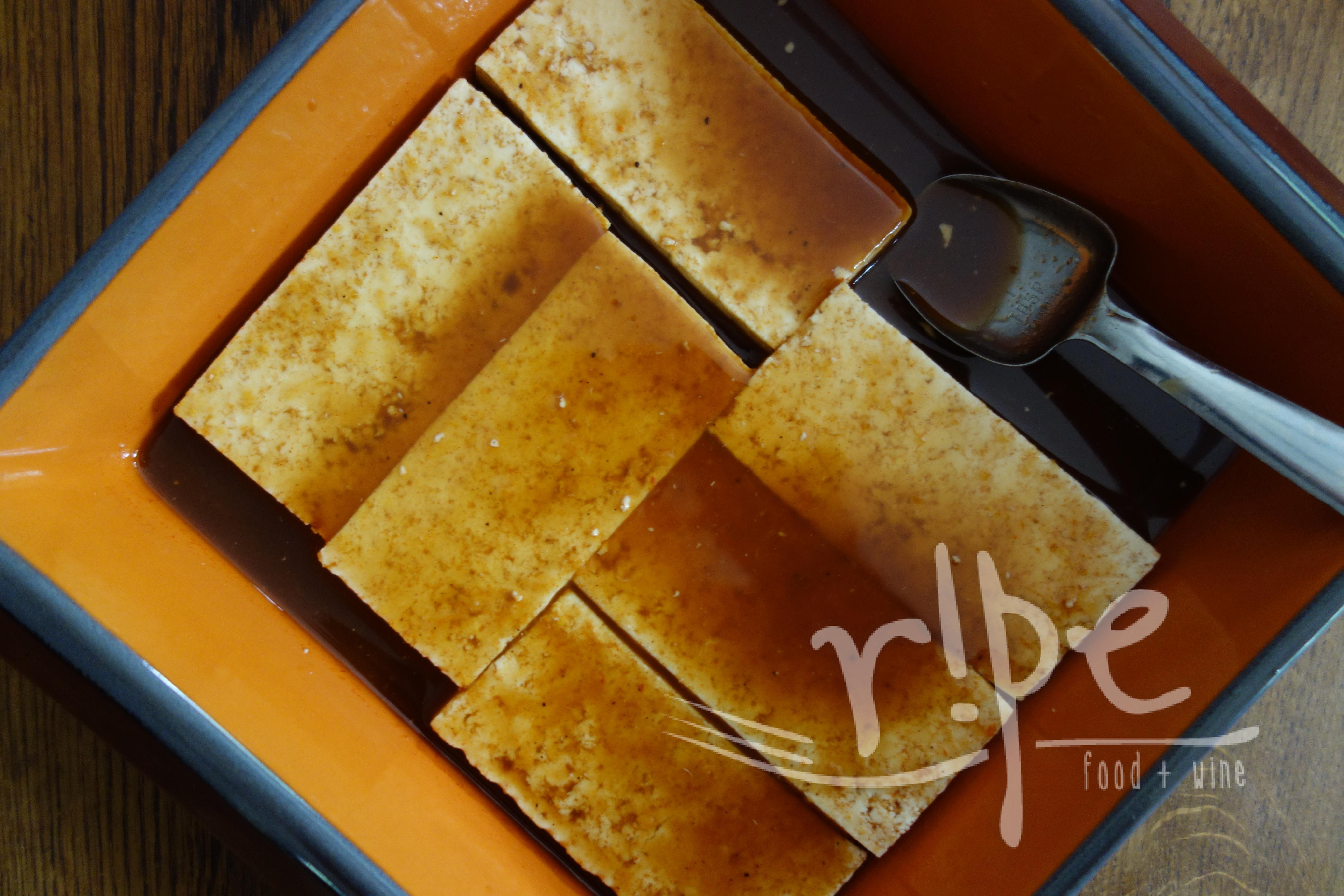 Baked Tofu With Orange Sesame Marinade Ripe